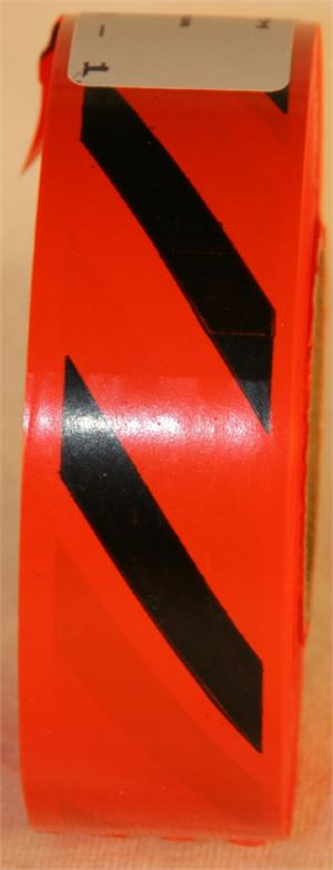 Orange Hashed Flagging Tape