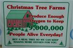 9,000,000 People Tree Lot Sign